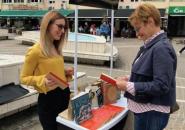 Prva ulična akcija prikupljanja knjiga, Podgorica 06. 04. 2019.