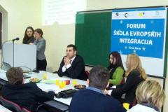 CCE - Lobbying in Brussels, Ann Isabelle von Lingen (OSI), Momčilo Radulović (EMiM), Daliborka Uljarević (CCE), 16 March 2006