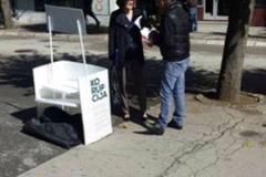 CCE -  Promotional campaign - dissemination of leaflets, Pljevlja, 04/10/2017