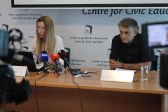 """Obilježavanje Međunarodnog dana nestalih, Udruženje porodica nestalih, kidnapovanih i ubijenih lica """"Crveni božur"""" i CGO, Podgorica, 30. 08. 2018."""