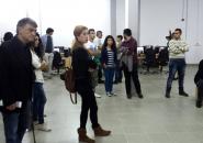 CGO - Predstavnici/ce CGO-a i clanovi/ce Koalicije za REKOM iz Crne Gore na otvaranju Dokumentacionog centra SENSE u Potočarima, 21. septembar 2014.